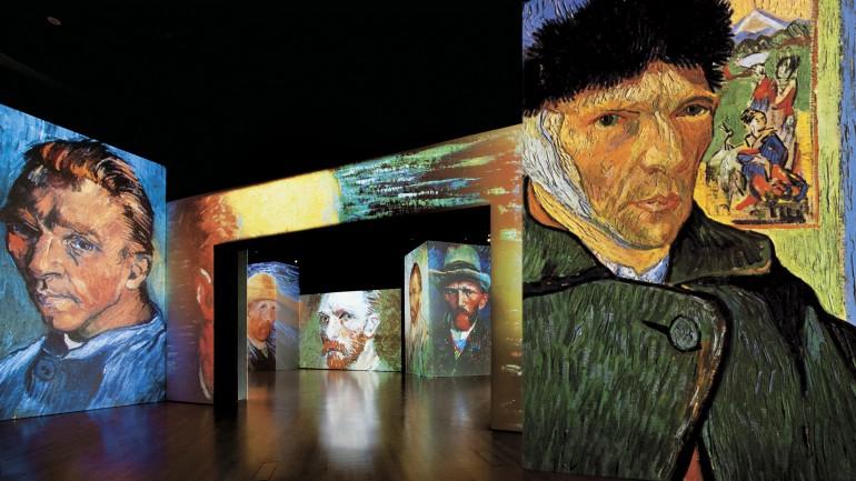 لوحات فان كوخ الحية ،في دبي وأبوظبي